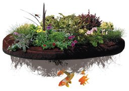 Make your own floating planted pond island instructions for Plastic floating pond plants